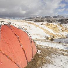 Zelten beim Minasniyuq (4800 m) bei AndaguaFoto:©Lichtbildarena